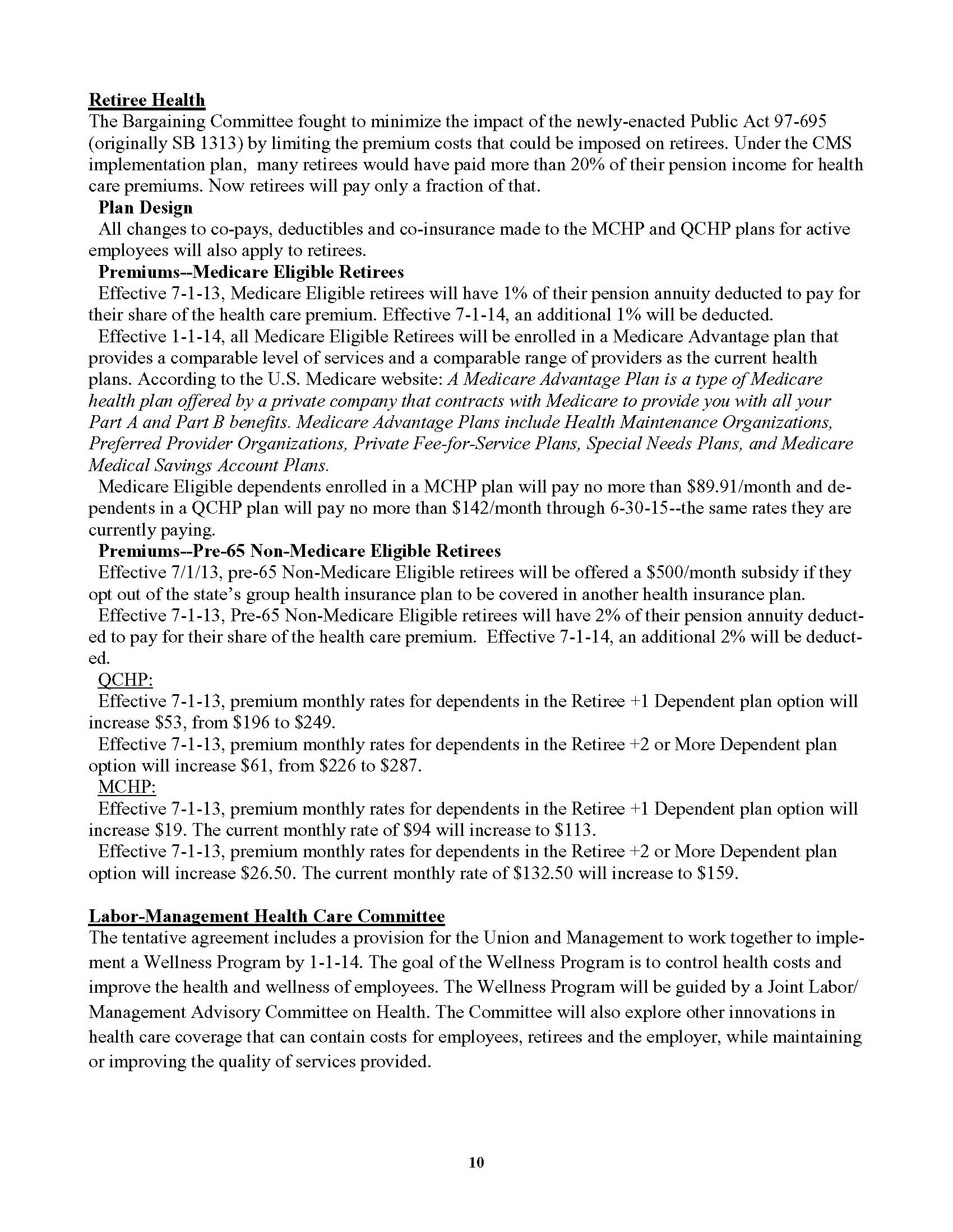 State Contract Summary Afscme 31