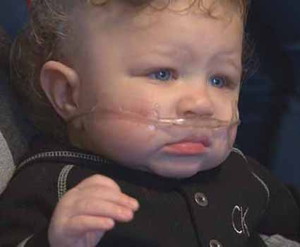 State worker faces loss of baby's oxygen tank