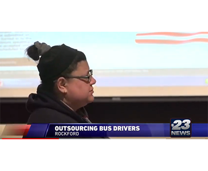 Fighting outsourcing, Rockford bus drivers testify at school board
