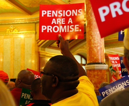 Union coalition seeks to halt pension theft law